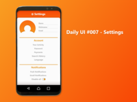 Settings - Finance App - DailyUI #007