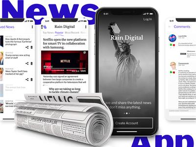 Digital Newspaper App   Mobile App for iOs