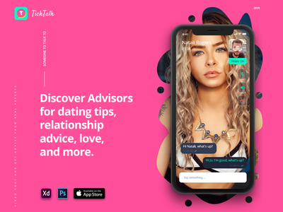 Video Chat - TickTalk. Mobile App for iOs