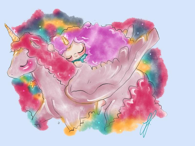 Unicornlove unicorn kidlitart painting art illustration