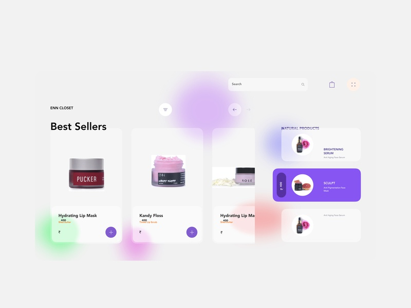 Skin products website blurred background blur figma uxdesign website design website design shrutiuiux dribbble