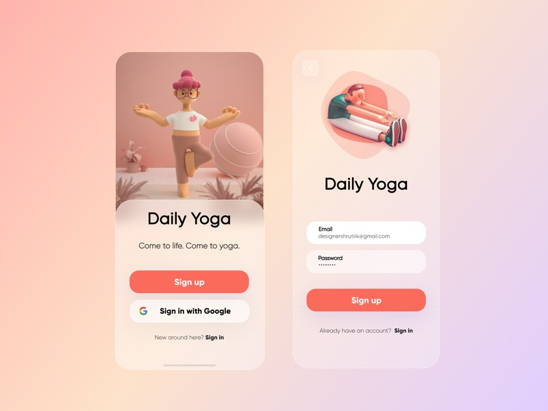 Day 2 and 3 UI challenge 10ddc glasseffect 10ddc uxdesign mobile design ui uidesign shrutiuiux dribbble