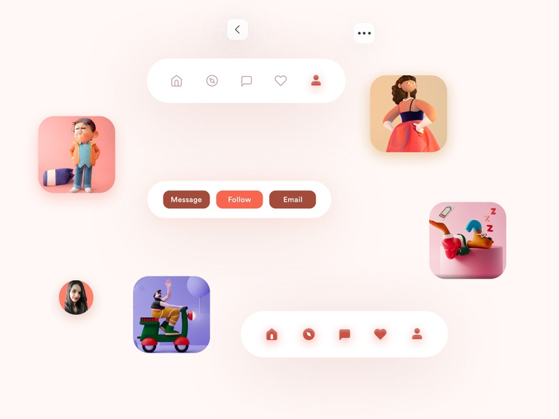 Profile screen component 10ddc app uxdesign ui mobile design uidesign shrutiuiux dribbble