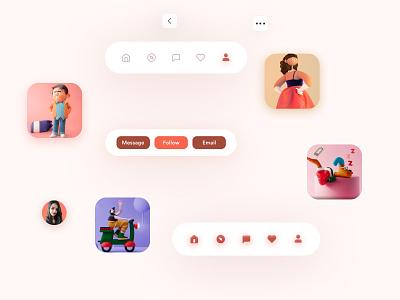 Profile screen component 10ddc app uxdesign ui mobile design uidesign shrutiuiux dribbble