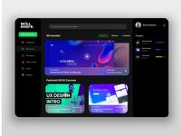 Skillshare home page dark darkmode figmadesign webdesign website figma uidesign ui design shrutiuiux