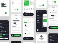 Job Finder App mobile figma shrutisharmadesign uidesign dribbble
