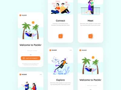 Onboarding for travel dating app uxdesign figma ui app mobile uidesign design