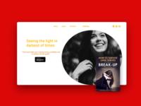 Book Promo Landing Page UI