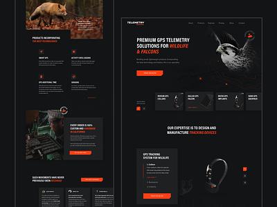 Telemetry Solutions – Website & App design dark dark ui animal animals branding ux  ui uiux ux gps tracker gps falcons wild wildlife design ui website web