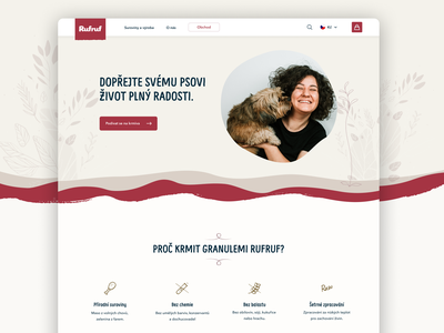 RufRuf - food for dogs ecommerce shop eshop ecommerce pet dog website web ui design