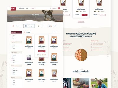 RufRuf - ecommerce for dogs food pets pet dog webdesign design website ui eshop ecommerce web