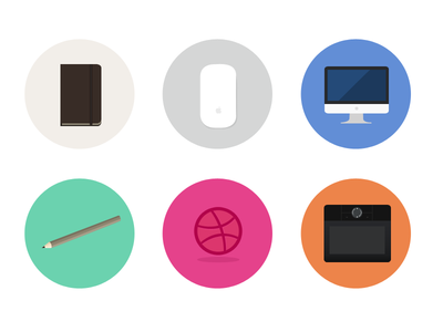 Flat icons designer stuff