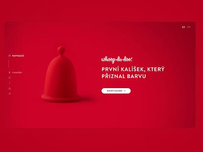 Whoop·de·doo – landing page landing product menstrual branding women design web