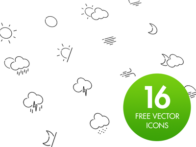 Free Weather Icon Set weather icon set icons vector download ai illustrator