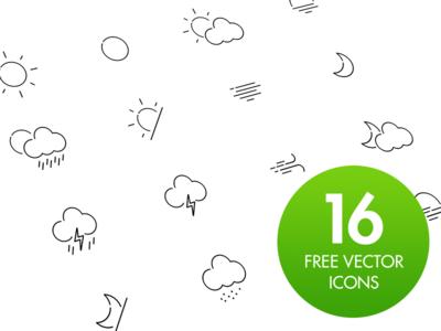 Free Weather Icon Set