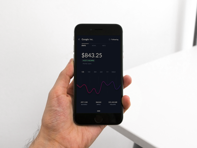 Concept app | Stock chart app mobile ui graph ios filter apple icons chart stock