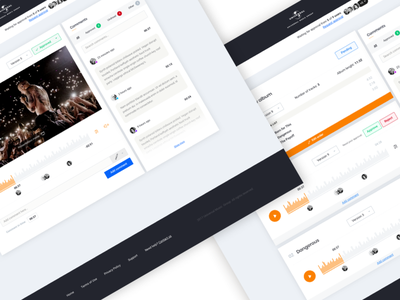 Secure Sharing Portal | Universal Music comments music admin website ux ui portal share secure