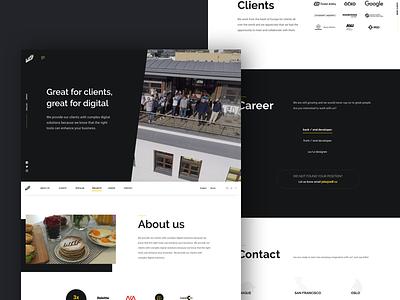 WDF | Digital agency redesign redesign studio ui homepage digital
