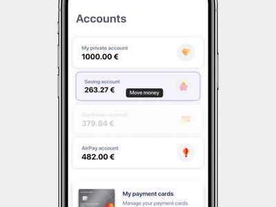 Banking app - move money
