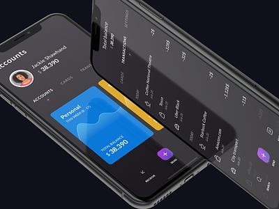 Minimalistic Banking Concept fintech banking app card transactions account minimalist bank app banking