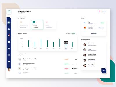 Banking dashboard ui accounts bank app banking app banking dashboard