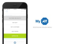 MyADT Responsive Splash Menu