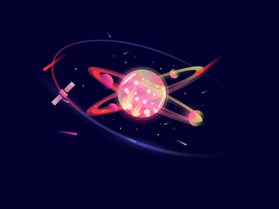 Space chapter two space star graphicdesign vector illustration