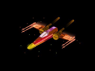 Star wars part 4 space starwars graphicdesign vector illustration