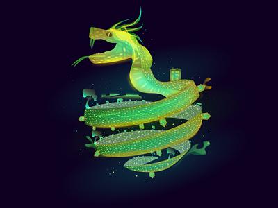 Snake fantasy snake graphicdesign vector illustration