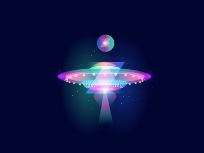 Flying saucer disco space branding saucer flying saucer flying fly graphicdesign illustraion