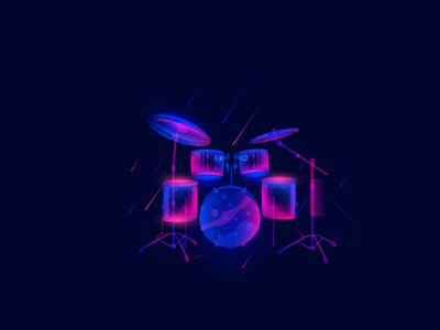 "Ilustration "" Reels"" world live vector illustration star space music reels"