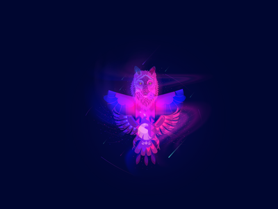 """Illustration """"The totem of freedom"""" world freedom eagle totem wolf space vector graphicdesign illustration"""
