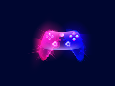 Joystick space stars star game games design gameshow space graphicdesign vector illustration