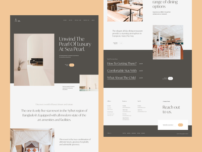 Luxury Hotel Web Exploration interiordesign landing page uiux uxdesign ui design minimal web design typogaphy website design ux ui