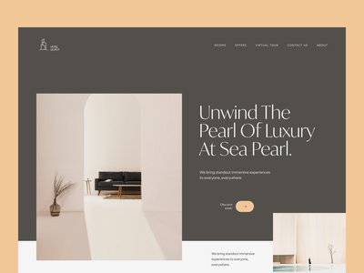 Luxury Hotel Web Exploration interiordesign landing page uiux uxdesign ui design minimal web design typogaphy website design ux ui