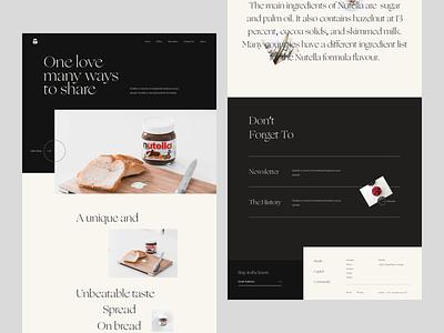 Nutella Website Exploration website design uxdesign ux uiux ui design ui typogaphy minimal landing page design