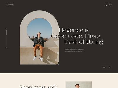 Fashionly Web web ui design fashion landing page website design uiux typogaphy minimal uxdesign ui design