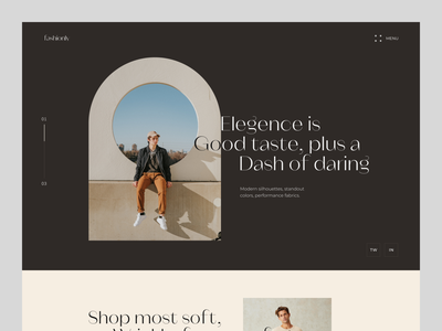 Fashionly Web web ui design fashion landing page website design uiux typogaphy minimal uxdesign ui design