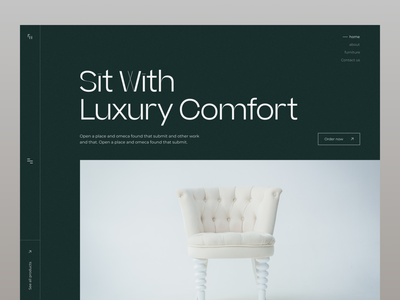 Furniture Online Store ui web minimal website design uiux landing page design typogaphy uxdesign ui design