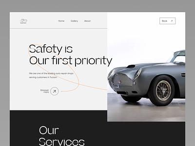 AutoCare - Car Service Website product design web ui uiux uxdesign ui design landing page design website design typogaphy web design