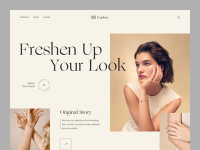 Empluse- Jewellery Shop Website website fashion ux ui web design typography product design web minimal landing page website design