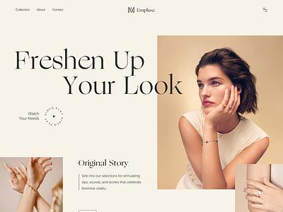Empluse- Jewellery Shop Website website fashion ux ui web design typography product design web minimal landing page website design