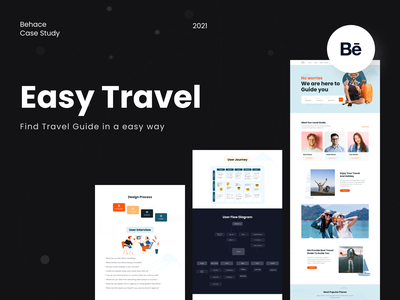 Easy Travel- Find Travel Guide(Behance Case Study) guide finder popular saidul islam website user experience design user interface design ux research ux case study design uxdesign uiux ui design website design minimal travel agency travel travel guide behance case study behance case study