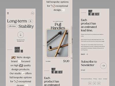 H&W - interior objects Website(mobile responsive) mobile app visual design animation app design typography minimal mobile responsive mobile app interior interection design design uxdesign uiux landing page website design ui design