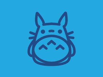 Day 3 - Totoro - 100 Icons Daily ghibli totoro vector minimal logo leeayr illustration icon design