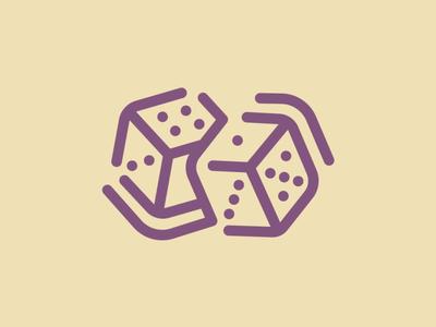 Day 40 - Dice - 100 Icons Daily pair dice vector minimal logo leeayr illustration icon design 100days
