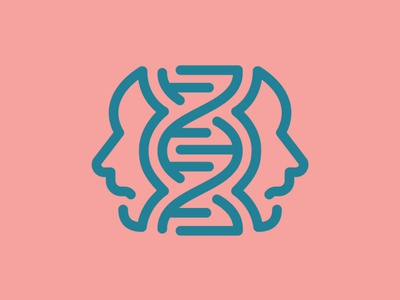 Day 42 - DNA - 100 Icons Daily genetic dna vector minimal logo leeayr illustration icon design 100days