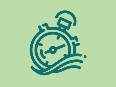 Day 75 - Stopwatch 100 Icons Daily timer stopwatch vector minimal logo leeayr illustration icon design 100days