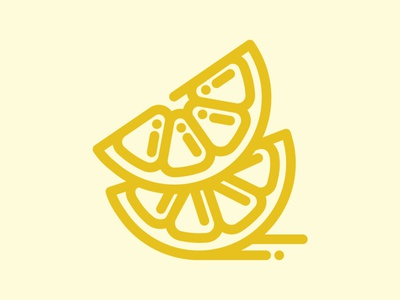 Day 96 - Lemon 100 Icons Daily fruit lemon logo vector minimal leeayr illustration icon design 100days