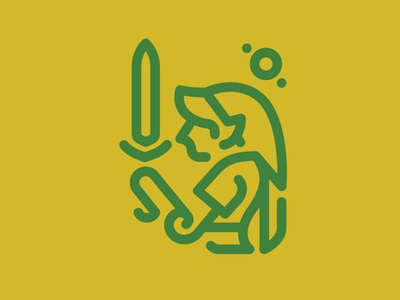 Day 99 - Link 100 Icons Daily videogames legend of zelda logo vector minimal leeayr illustration icon design 100days